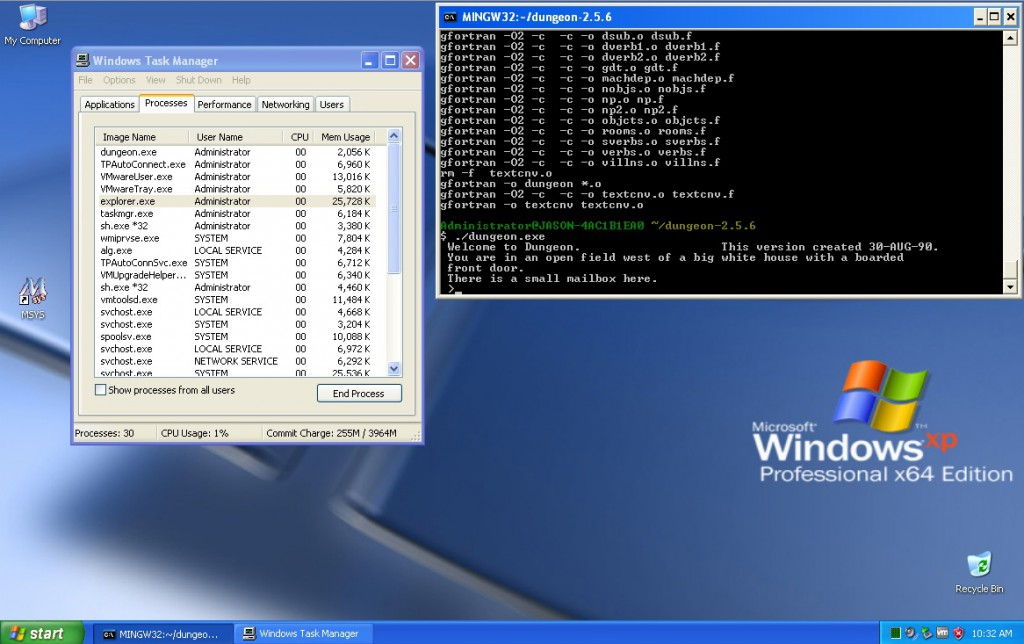 Windows XP x64 - dungeon