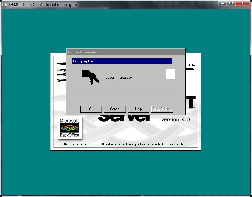 Windows NT 4.0 with 256 colours
