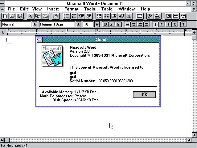 microsoft word for windows