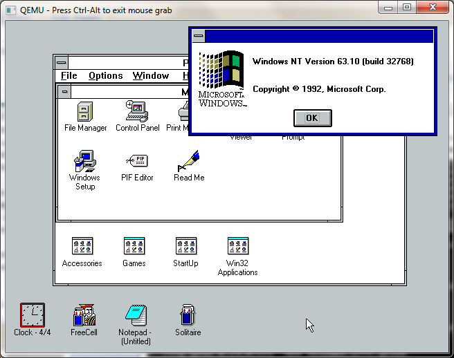 Windows-3.1-win32s-March-1993-running-nt-october-1992-appletts