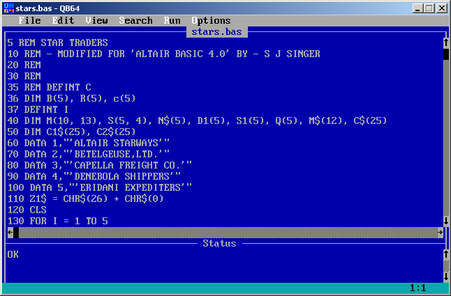 Qbasic virtually fun the best thing is that it looks and feels just like quickbasic fandeluxe Image collections