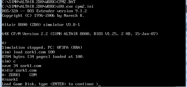Transferring data into CP/M with SIMH   Fun with virtualization