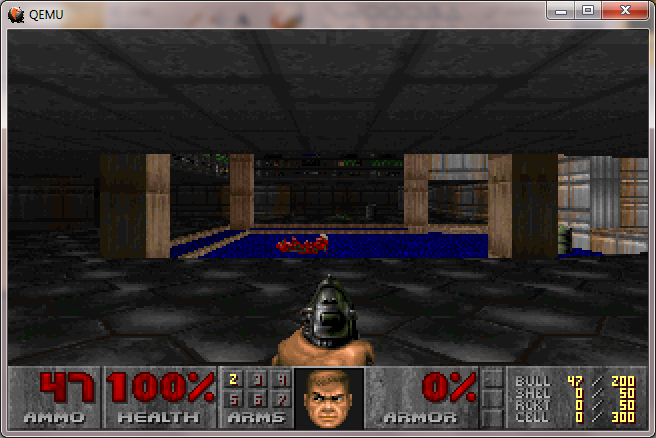 Doom on Qemu 1.2.0 rc1