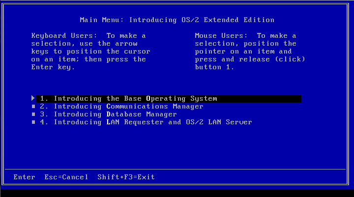 IBM OS/2 1 1 Extended Edition   Fun with virtualization