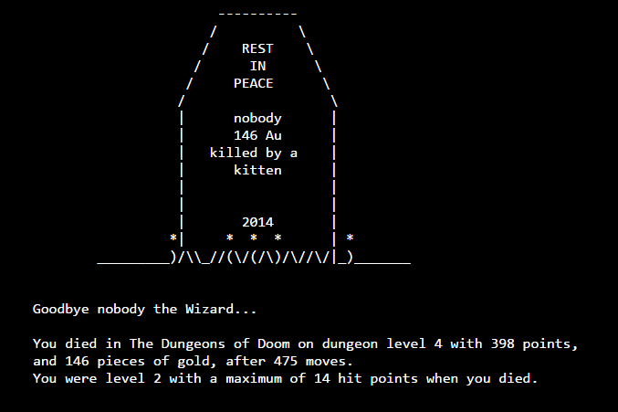 My typical luck in Nethack