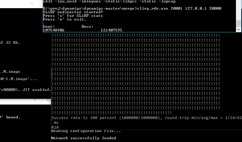 one million ICMP packets!