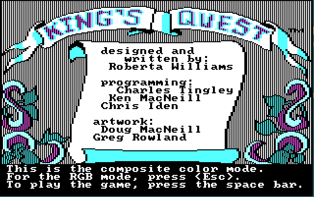 King's Quest 1, CGA