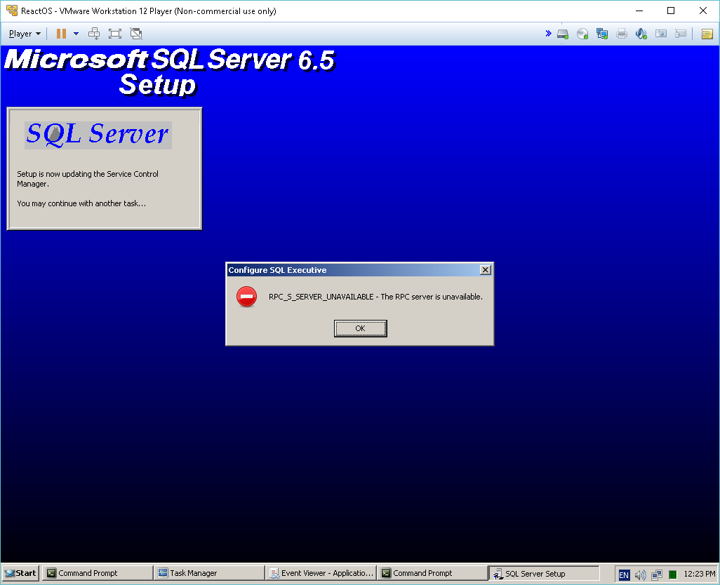 SQL Server 6.5 on ReactOS