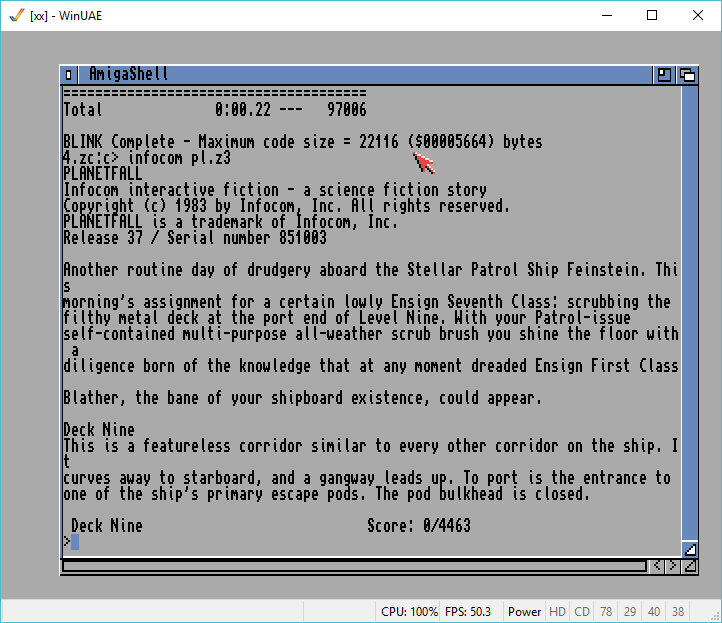 InfoTaskForce cross compiled on Windows, linked on AmigaDOS 2.0