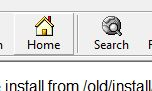 Internet Explorer 4 home button